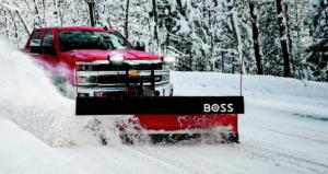 Boss straight blade snowplow