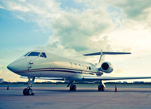 Small private commercial jet