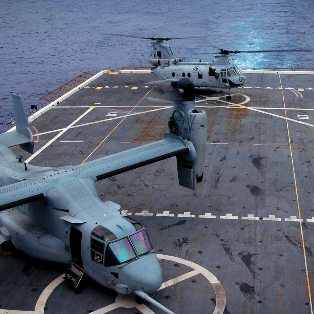 Hentzen defense coatings on V-22 Osprey helicopters