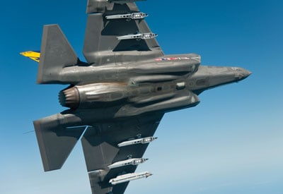 Hentzen defense coating on Lockheed Martin F-35 Lightning II