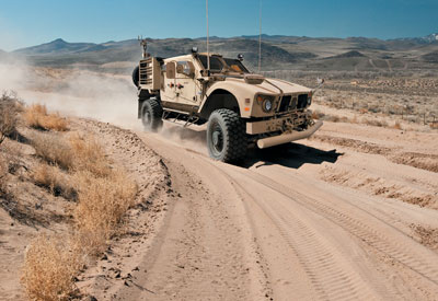 Hentzen defense coating on Oshkosh M-ATV