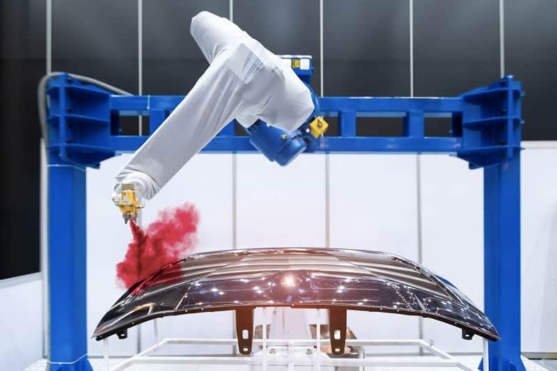 Automated robotic powder coating