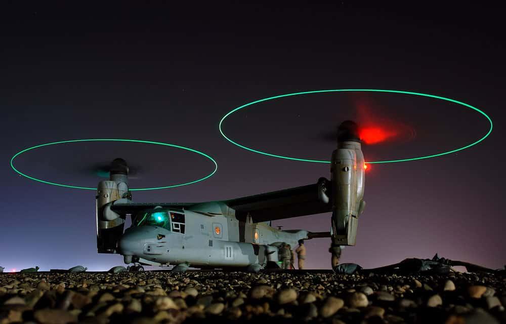 V-22 Osprey at night
