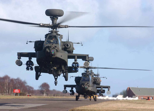 Boeing AH-64 Apache helicopters