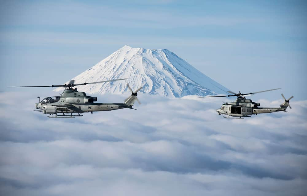 Bell AH-1 Cobra and UH-1 Iroquois helicopters