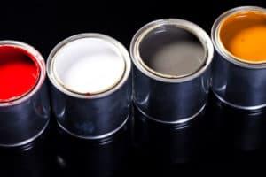 Paint-filled pails