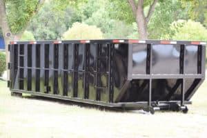 Side Dump trailer on ground