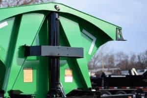 Side Dump green trailer