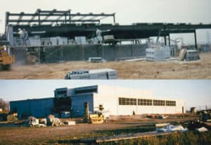 1963: Manufacturing facilities constructed